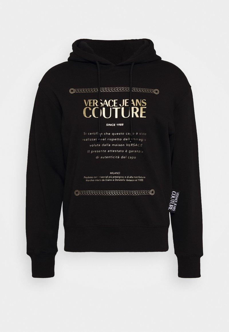 Versace Jeans Couture - FELPA - Felpa con cappuccio - black