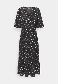 Missguided Tall - RUCHED BUST V NECK MIDI DRESS STAR - Day dress - black - 0