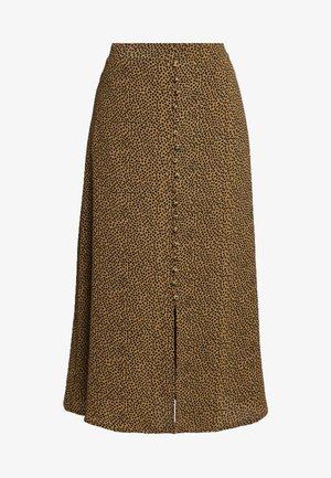 PRINT SKIRT - A-line skirt - heart caramel