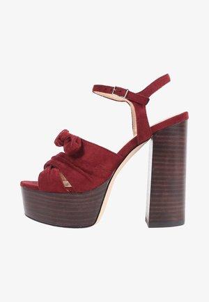 SICILIA - Platform sandals - granate