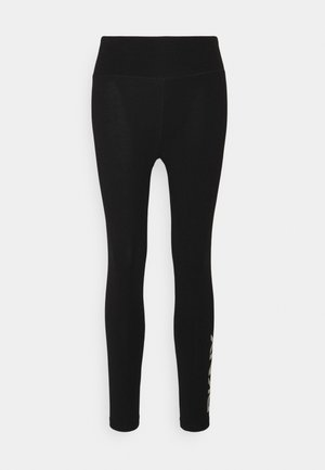 RHINESTONE LOGO HIGH WAIST 7/8 LEGGING - Collants - black