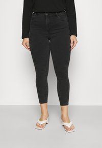 Noisy May Curve - NMAGNES SKINNY JEANS  - Jeans Skinny Fit - black denim - 0