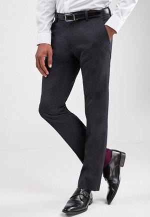 Spodnie garniturowe - mottled blue