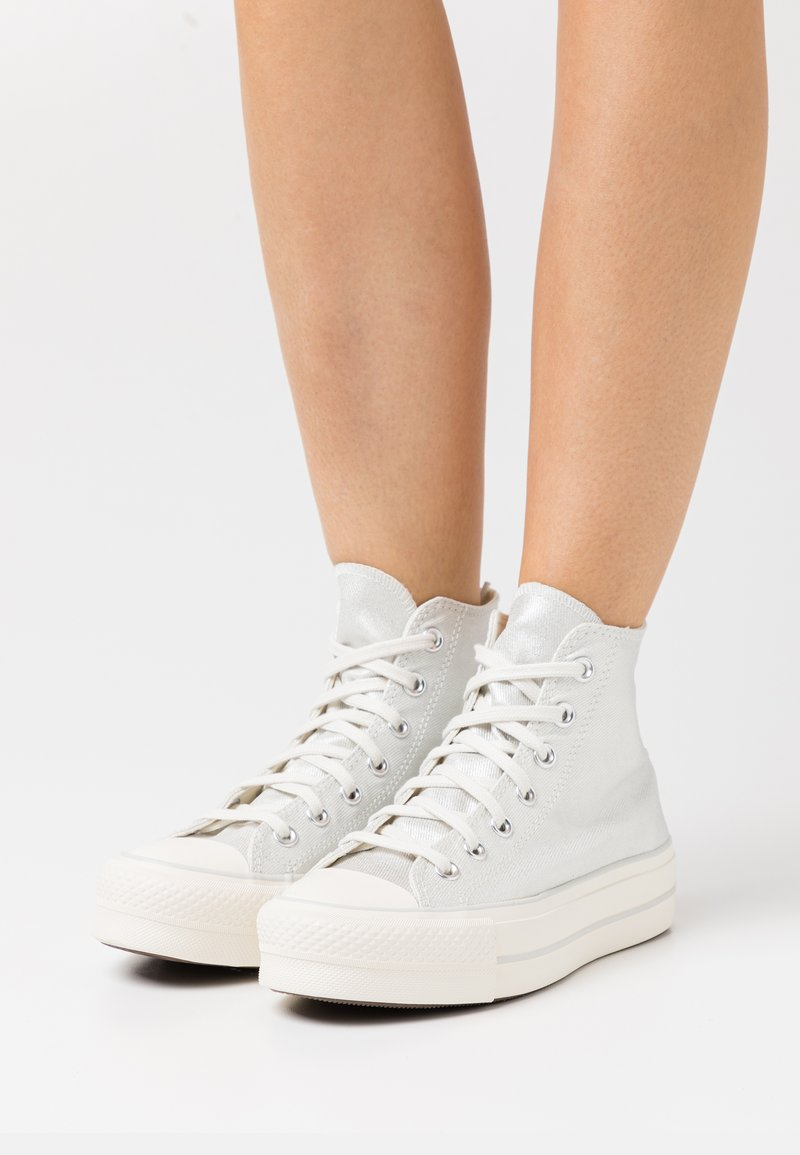 Converse - CHUCK TAYLOR ALL STAR LIFT - Sneakers hoog - pure silver/egret