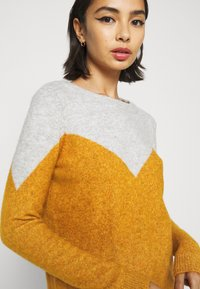 Vero Moda Petite - VMPLAZA BLOUSE - Jumper - light grey melange/buckthorn bro - 5