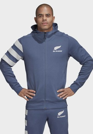 ALL BLACKS HOODIE - Zip-up hoodie - blue