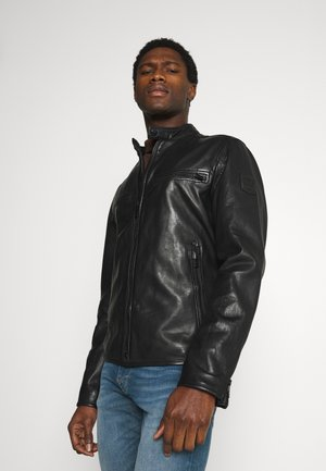 NORWICH - Leather jacket - black