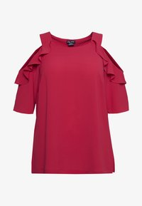 City Chic - WILD SLEEVE - Blůza - raspberry - 3