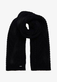 Superdry - LANNAH CABLE  - Scarf - carbon navy - 1