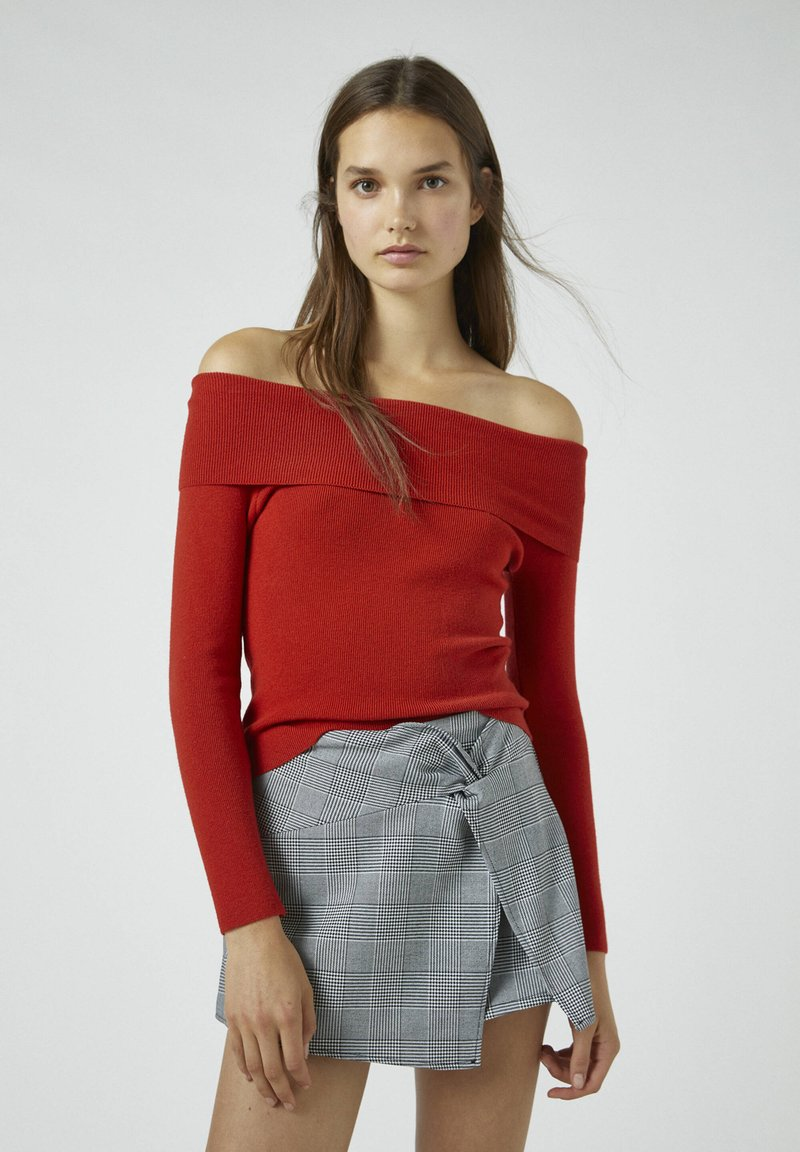 PULL&BEAR - Pullover - red