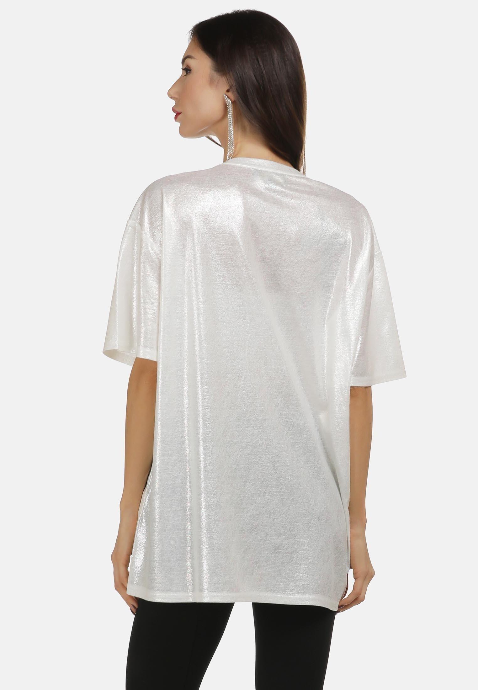 Low Cost Women's Clothing faina Blouse weiss glitzer ua9QzEoXL