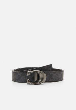 SCULPTED REVERSIBLE SIGNATURE BELT - Pásek - charcoal/black