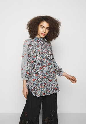 Long sleeved top - multicolor/black