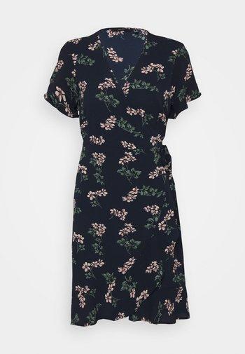 VMSAGA WRAP DRESS - Day dress - navy blazer