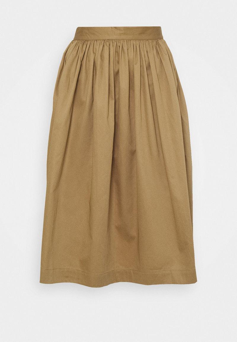 Selected Femme Petite - SLFWANDA MIDI SKIRT - A-line skirt - kelp