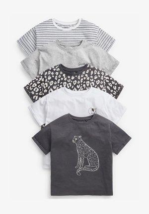 5 PACK LEOPARD LONG SLEEVE - T-Shirt print - multi coloured