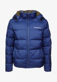 Calvin Klein Jeans - HOODED DOWN PUFFER  - Winter jacket - blue - 5