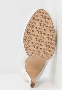 Tamaris - COURT SHOE - Korolliset avokkaat - champagner - 6