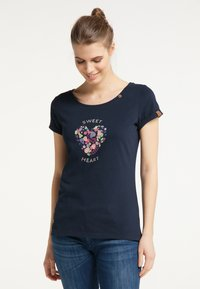 Ragwear - Print T-shirt - navy uni - 2
