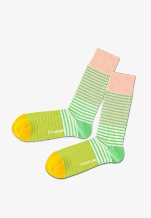 Strømper - green pink yellow
