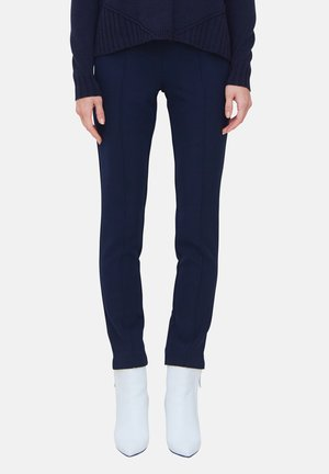 CON NERVATURE - Trousers - blu
