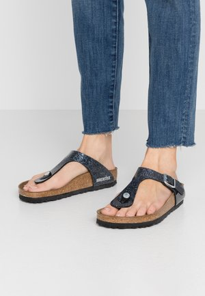 GIZEH - T-bar sandals - cosmic sparkle anthracite