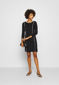 Anna Field - Shift dress - off-white/black - 1