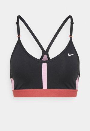 INDY V NECK BRA - Reggiseno sportivo con sostegno leggero - black/pink glaze/canyon rust/white