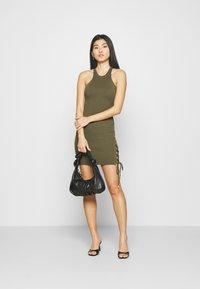 Guess - ALEXA TIE  - Shift dress - khaki - 1