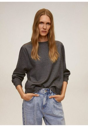 PIQUE - Sweatshirt - dunkelgrau meliert