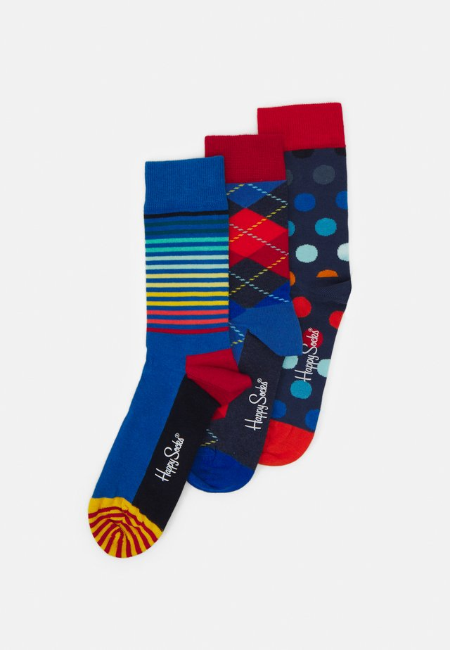 ARGYLE  BIG DOT  HALF STRIPE 3PACK - Socks - dark blue/navy
