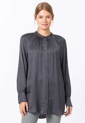 Button-down blouse - gris moyen
