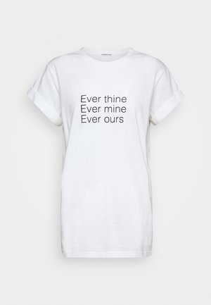 STANLEY STATEMENT TEE - Print T-shirt - white