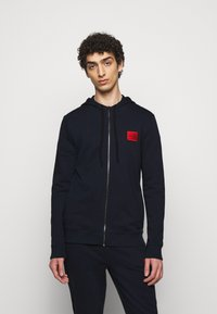 HUGO - DAPLE - veste en sweat zippée - dark blue - 0