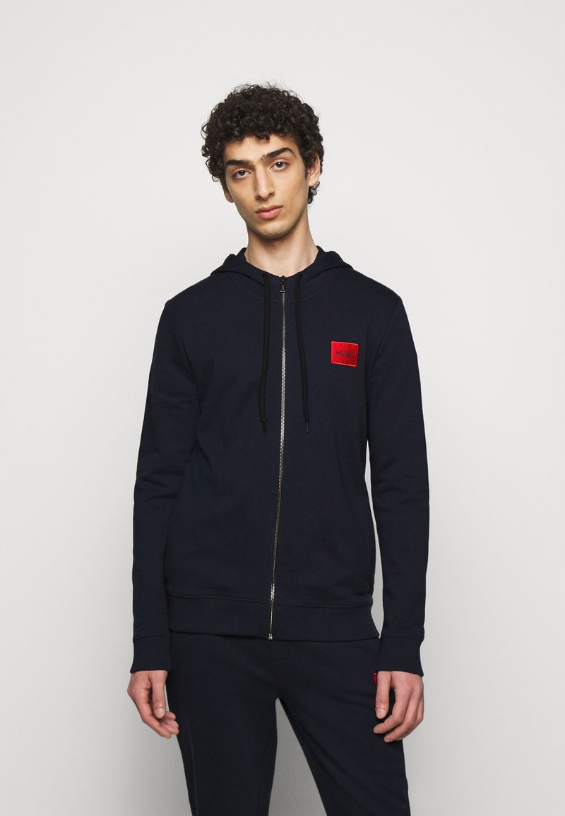 HUGO - DAPLE - veste en sweat zippée - dark blue