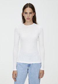 PULL&BEAR - LONGSLEEVE - Bluzka z długim rękawem - white - 0