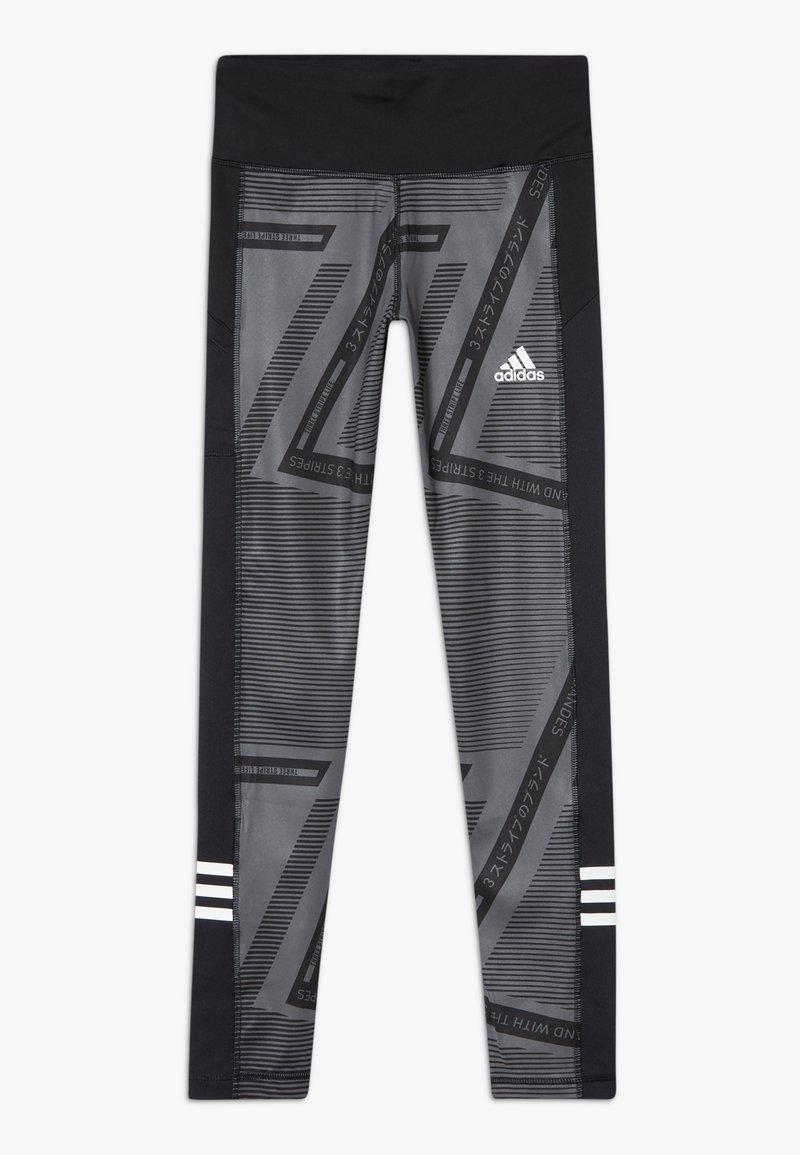 adidas Performance - Collant - grey six/black/white