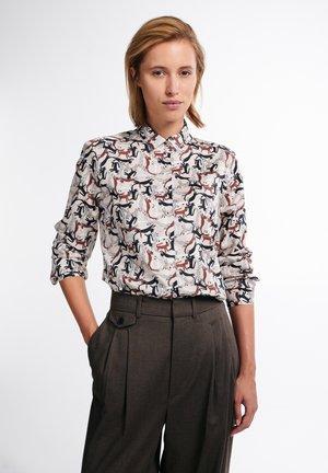 Button-down blouse - beige/braun