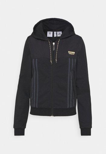 ZIP HOODIE - Felpa con zip - black