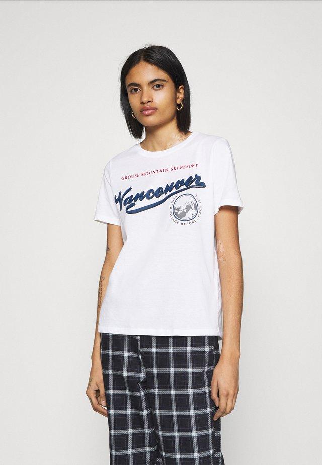 IDA TEE - T-shirt z nadrukiem - white