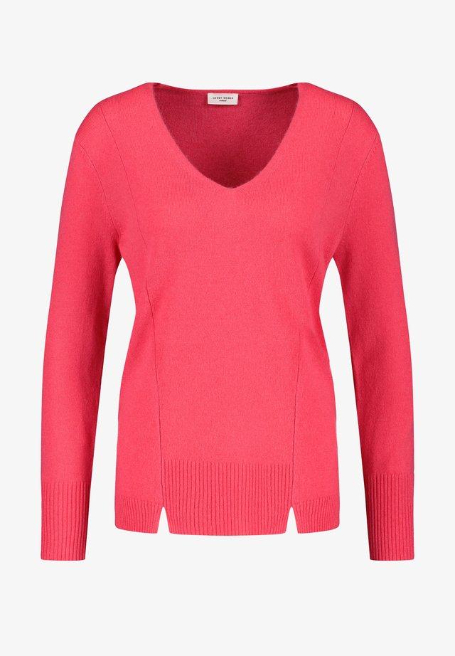 MIT KASCHMIR - Pullover - bright coral