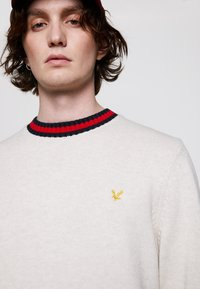 Lyle & Scott - CREW NECK - Stickad tröja - vanilla ice marl - 3