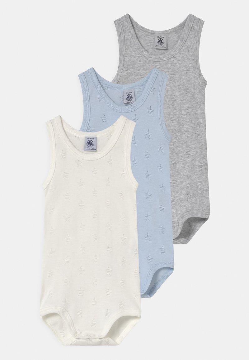 Petit Bateau - 3 PACK - Body - white/blue/grey