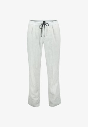 "BOSS HERREN HOSE ""SYMOON1"" TAPERED FIT - Trousers - silver"