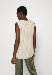 TOM TAILOR - BLOUSE STRIPED - Blouse - beige/offwhite - 2