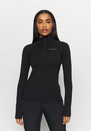 MAGIC HALF ZIP - Undershirt - black