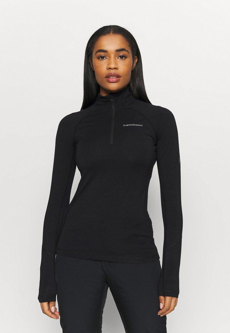 Peak Performance - MAGIC HALF ZIP - Undershirt - black