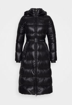 LOFTY  BELTED MAXI COAT - Down coat - black