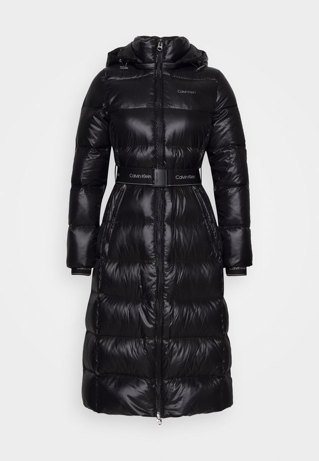 LOFTY  BELTED MAXI COAT - Dunkappa / -rock - black