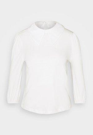 ONLJEN LIFE COLLAR TOP - Basic T-shirt - cloud dancer
